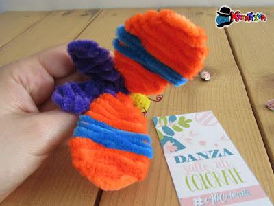 farfalla creativa realizzata con scovolini per #alicolorate