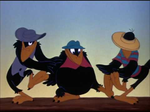 Cool cat crows Dumbo 1941 animatedfilmreviews.blogspot.com