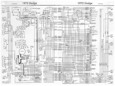 dodge challenger 1972 complete wiring diagram all about