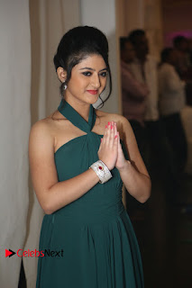 Actress Shriya Sharma Pictures in Long Dress at Nirmala Convent Audio Launch 0052.JPG