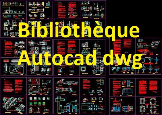 Souvent Bibliothèque autocad dwg gratuit 1   Outils, livres, exercices et  FJ78