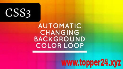 Automatic background color changer css