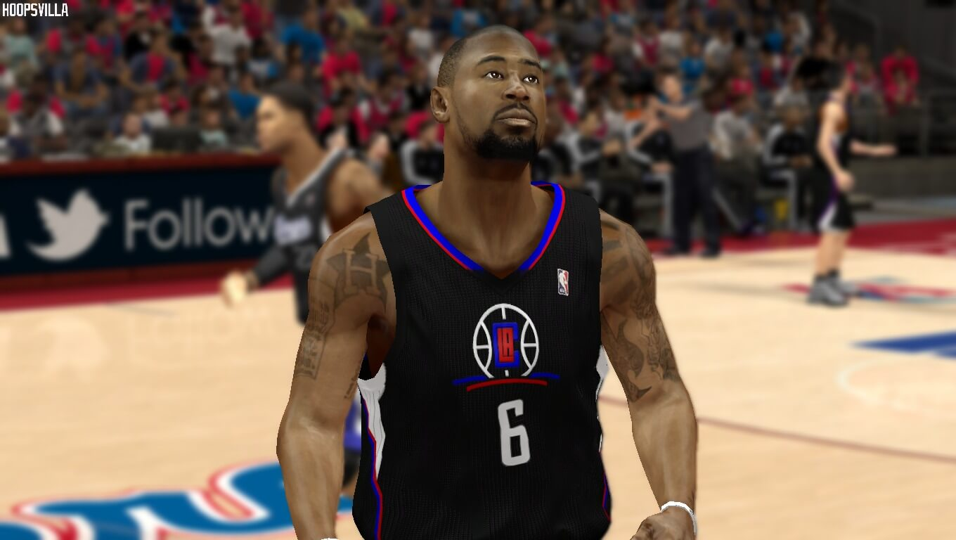 NBA 2k14 Jersey Mod   Los Angeles Clippers Black Alternate Uniform ... 4400d71aa