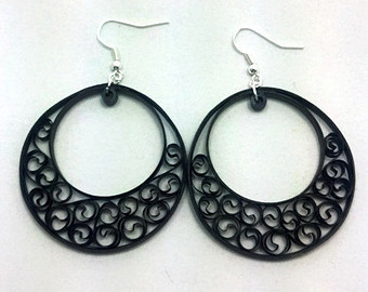 Paper Quilling Hooped Earring Designs and Collections 2015