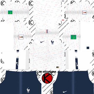 France 2018 World Cup Kit -  Dream League Soccer Kits