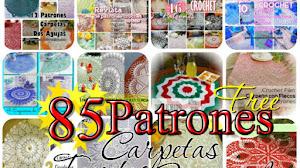 85 Patrones de Carpetas, Tapetes y Manteles Crochet y Dos agujas / Colección