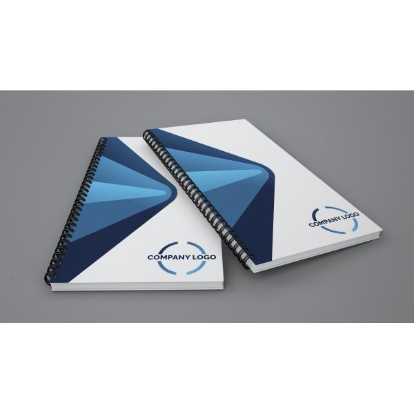 Company custom notebook cover design free psd templates