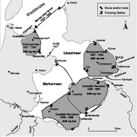 a map of 20th century Dutch polders