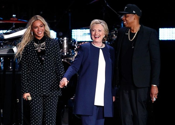 Are blacks important when it comes to politics in America? Hillary Clinton, Beyoncé and Jay-Z.