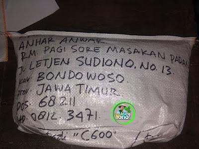 Benih Padi Pesanan  ANHAR ANWAR Bondowoso, Jatim  Benih Sesudah di Packing