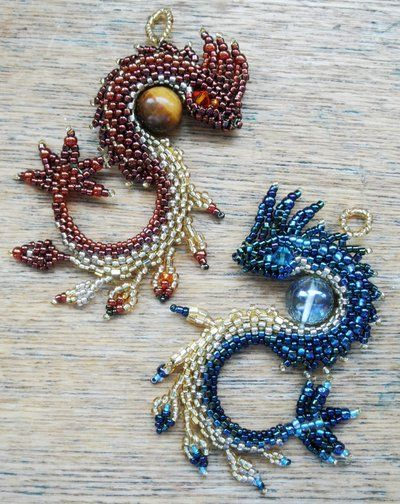 beaded dragon jewelry tutorial