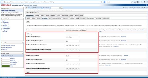 Configuring Self Certificate and SSL in Weblogic - Kunal
