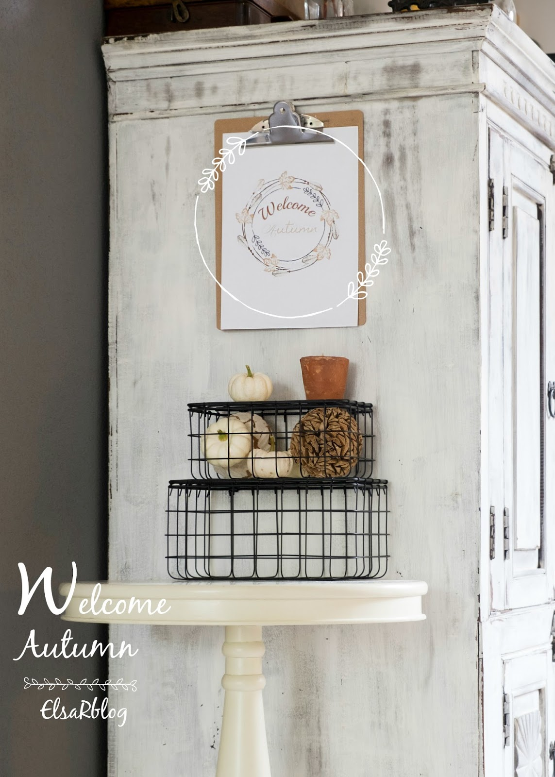 Welcome Autumn, Free Printable