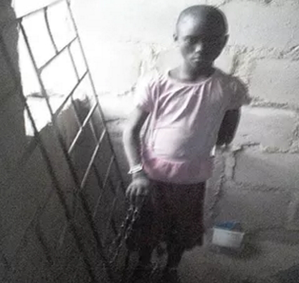girl chained abeokuta