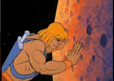 Action Figure Adventures: He-Man moves the Moon - Cel
