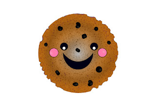 chocolate chip cookie vector, chocolate chip cookie tutorial, kawaii in adobe photoshop