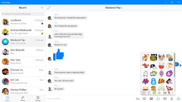 تحميل برنامج مسنجر فيسبوك عربي لويندوز 10 مجاناً Messenger facebook for windows 10.