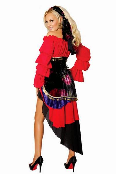 Vestiti Da Sposa Zingara.Costumi Halloween Vestito Da Zingara Cartomante E Fattucchiere