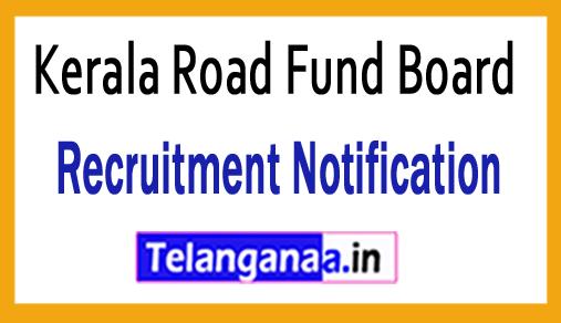 Kerala Road Fund Board KRFB Recruitment