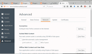 Mozilla Firefox Advanced Network