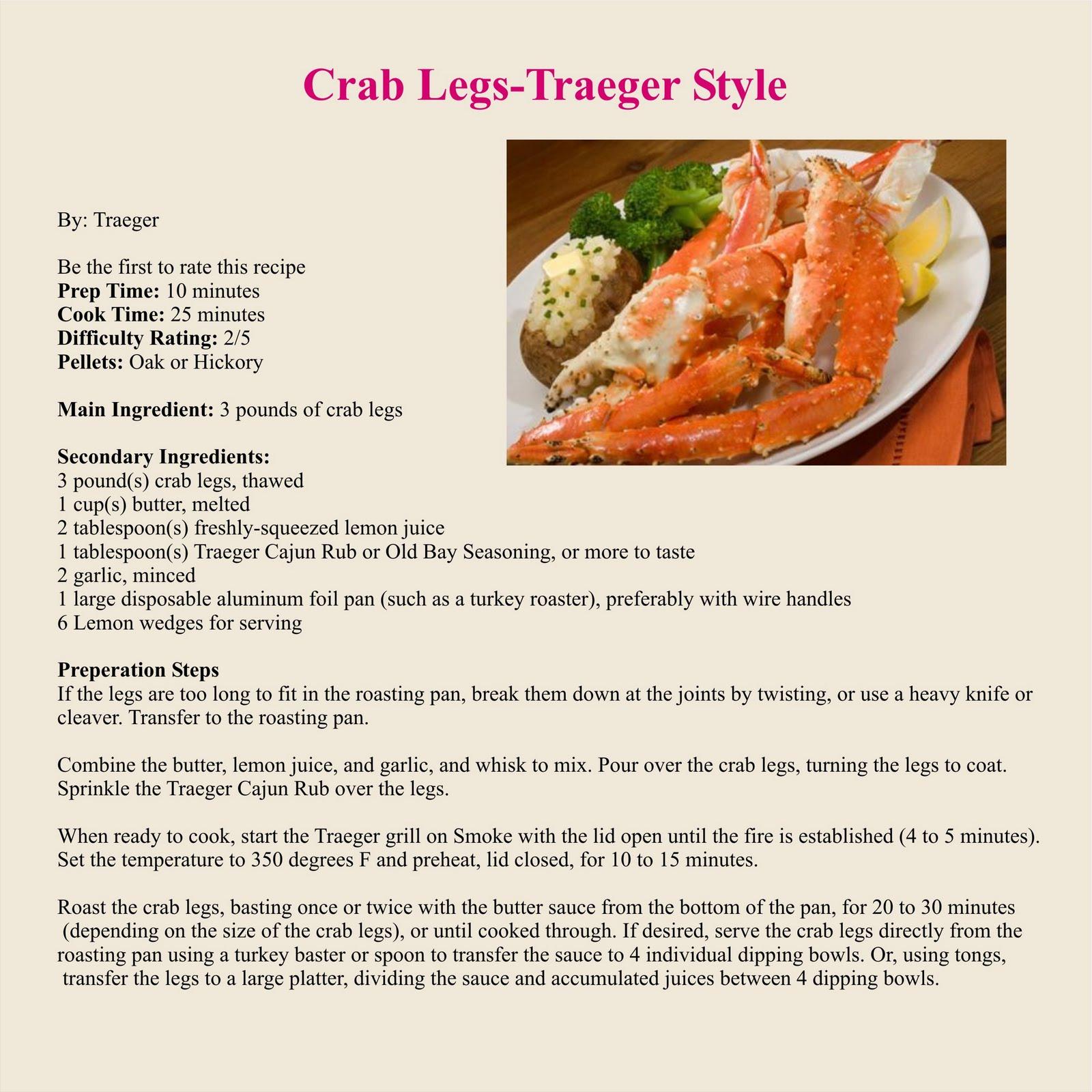 Traeger Grills: Crab Legs Traeger Style
