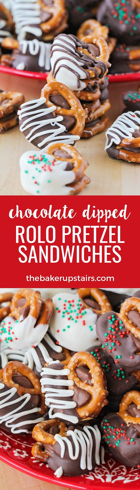 These Rolo pretzel sandwiches are so easy to make and so delicious too! Perfect for holiday snacking or gifting!