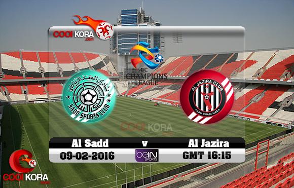 مشاهدة مباراة الجزيرة الإماراتي والسد القطري اليوم 9-2-2016 في دوري أبطال آسيا