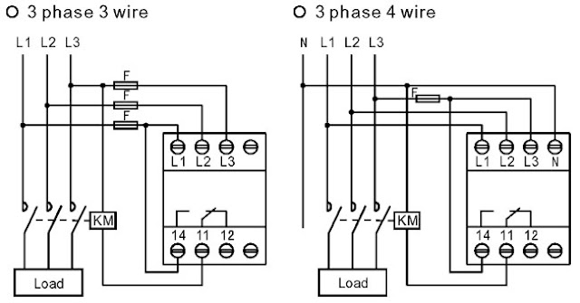 difference between wiring of 3-phase 3-wire and 3-phase 4-wire