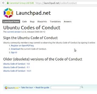 Подписывание документа code of conduct