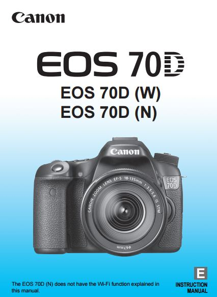 Canon EOS 70D PDF User Guide / Manual Downloads