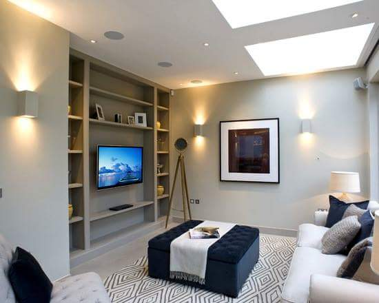 Nowadays TV's mostly found on walls to give more entertainment and comfortable for family, especially for kids. But when it comes to creating perfect TV wall, it can be challenging to pick the right spot and proper layout. Here are 75 different ways to create a TV wall design for stylish and comfortable viewing experience in your living room.