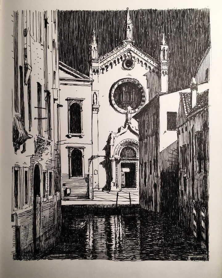 03-Venice-Mark-Poulier-Eclectic-Mixture-of-Architectural-Drawings-www-designstack-co