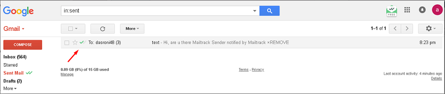 Confirm if Someone Blocked on Gmail proof