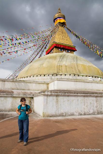 pagoda de Bodhnath en Katmandu