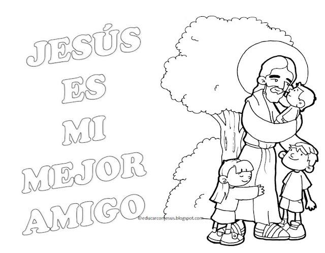 La Catequesis El blog de Sandra Dibujos para colorear Jess con