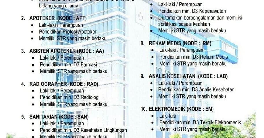 Lowongan Kerja Rs Triharsi Surakarta Jl Monginsidi Butuh Banyak