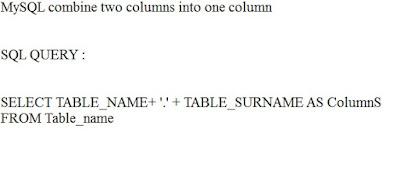 mysql combine two columns into one column