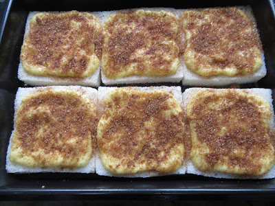 Torrijas borrachas de natillas expres con Thermomix