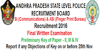 AP SI & ASI written exam Key 2016