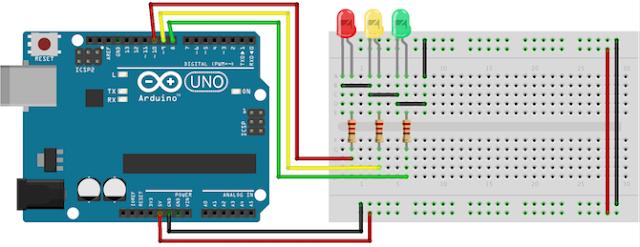 Cara Membuat Traffic Light Menggunakan Arduino (Sketch)