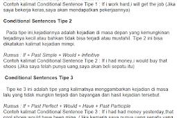 Conditional Sentences | PENGERTIAN BESERTA TIPE RUMUS DAN CONTOHNYA