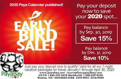 deals, specials, sale, early bird, paya bay resort, #payabay, #payabayresort, 2020,