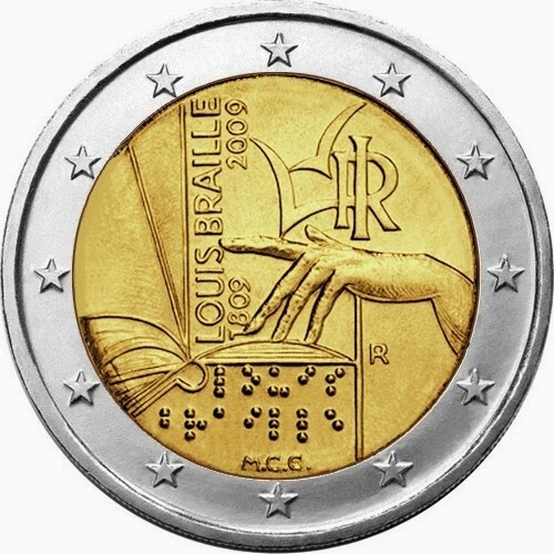 2 euro Italy 2009, Louis Braille