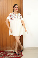 Lavanya Tripathi in Summer Style Spicy Short White Dress at her Interview  Exclusive 255.JPG