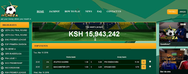 mcheza betting site