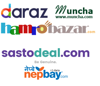 Top 5 Online Shopping Site in Nepal - Logos