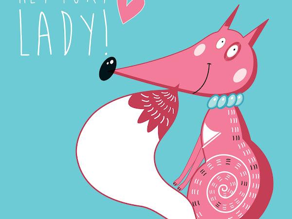 Free Foxy Lady Valentine's Day Print
