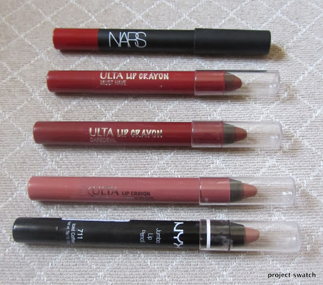 Chubby Lip Pencil Comparison, Review, Swatches