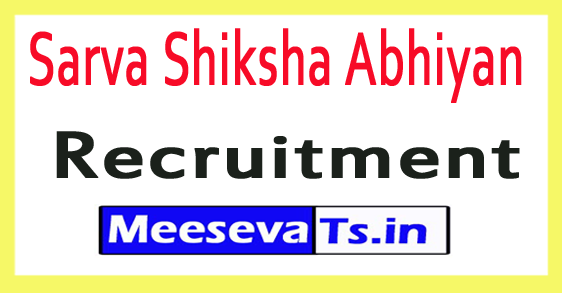 Sarva Shiksha Abhiyan SSA Recruitment Notification 2017