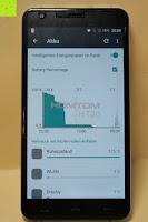 "Akku Verbrauch: HOMTOM HT30 3G Smartphone 5.5""Android 6.0 MT6580 Quad Core 1.3GHz Mobile Phone 1GB RAM 8GB ROM Smart Gestures Wake Gestures Dual SIM OTA GPS WIFI,Weiß"